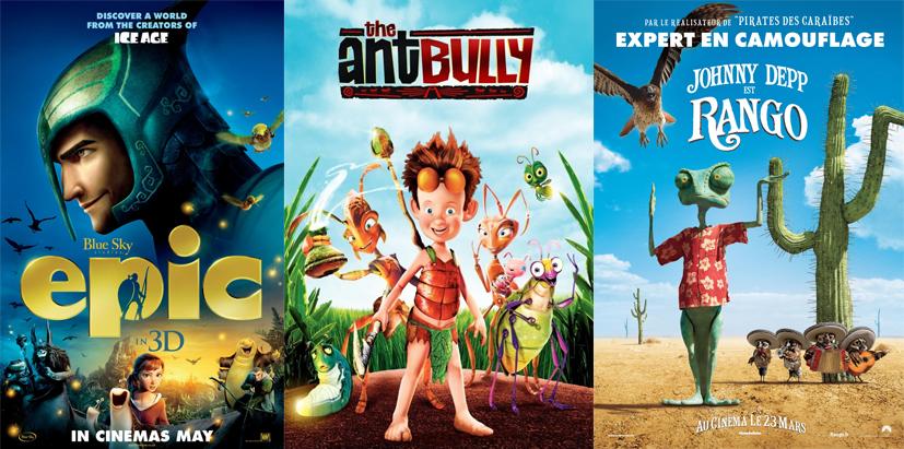 My Top Three Animation Movies Epic Rango Ant Bully Movie Select
